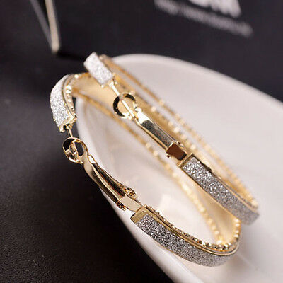807949fa6f Fashion Women s Rhinestone Crystal Hoop Round Big Earrings Ear Stud Jewelry  CA