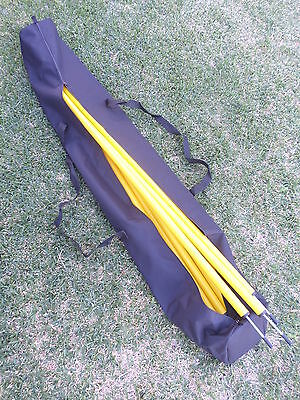 AGILITY POLE BAG holds 30 poles 182cms LONG slalom soccer football fitness - NEW