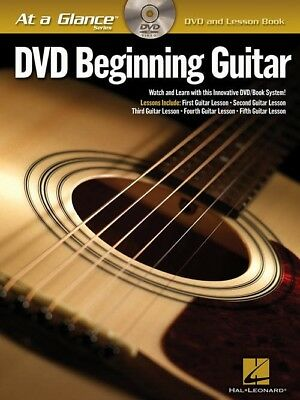 At A Glance DVD Beginning Guitar Book *NEW* Lesson Tuition Instructional