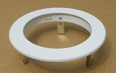 """4"""" Inch Recessed Can Light Trim Baffle Ring - White"""
