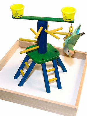 Parrot Bird Perch Play Gym Stand Table Top  Pyramid Perch