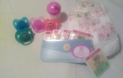 Baby Alive Refill Pack W/3 Animal Paci Baby Alive Sippy Cup  5 Food 5 Diapers