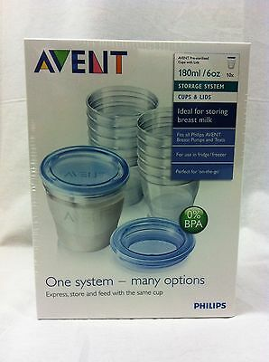 BRAND NEW Avent VIA 180ml Breast Milk Storage Containers - Breastfeeding Special