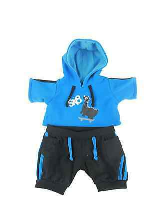 """Skateboarding Dinsoaur Hoodie outfit/clothes to fit 15""""/16"""" build a bear factory"""