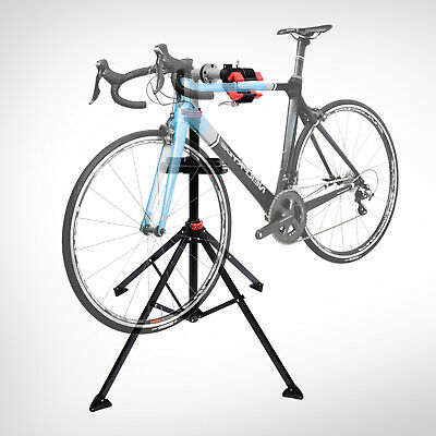 "HOMCOM Bike Repair Work Stand Adjustable Telescopic Arm 75"" Rack Tool Tray Cycle"