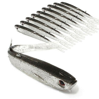10PCS 75mm/2.9in 2.2g Soft Outdoor Fishing Lures Swimbait Artificial Bait Tackle