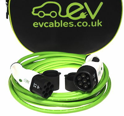 EV Charging Cable Type 2-Type 2, 16A or 32A, Straight or Coiled, Many Sizes