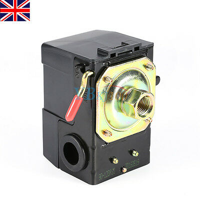 Air Compressor Pump Pressure Control Switch Valve 90-120PSI On/Off Lever UK Ship