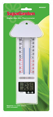 SupaGarden Minimum Maximum Garden Thermometer Mercury free, greenhouse, home