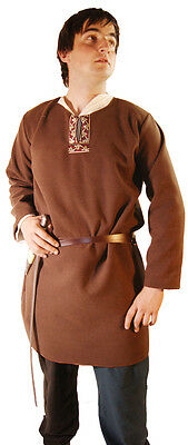 Medieval/LARP/SCA re enactment/Role play BROWN NOBLEMAN TUNIC all sizes Inc 4XL
