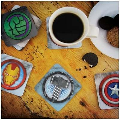 Marvel Avengers 3D Lenticular Coasters - OFFICIAL Hulk Thor Iron Man - NEW GIFTS