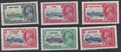 Hong Kong    1935  Silver Jubilee Various Values   M / H