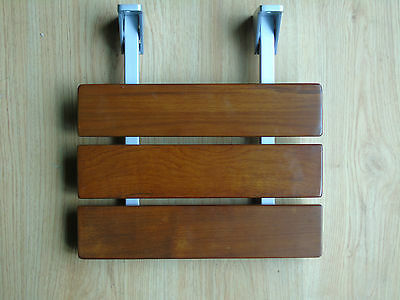 Wall Mounted Bathstore Wooden Folding Shower Seat Aid