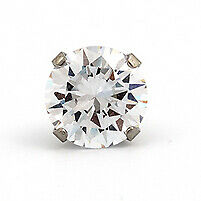 Caflon Stainless Steel Cubic Zirconia 5mm