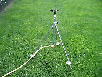 Irrigation Tripod Complete with 360° Impact Sprinkler and Hosepipe Snap Fitting