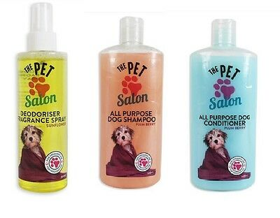 The Pet salon - Dog shampoo 500ml , Contioner 500ml  & Deodoriser 200ml