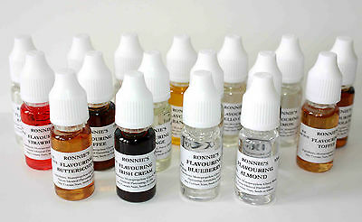 Concentrated Edible Liquid Flavourings, Set of 19, Cakes Baking Icing Sugarcraft