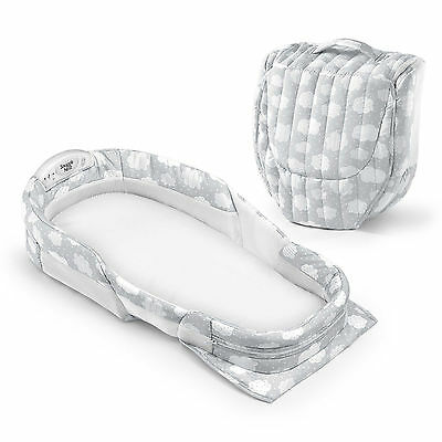 New Portable Comfortable Snuggle Nest Surround XL Silver Clouds Infant Sleeper