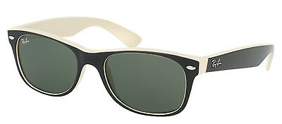 Authentic Ray Ban RB2132 Wayfarer 875 Top Black Beige Plastic Sunglasses 55mm