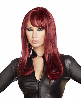 NEW Roma Costume Women's Burgundy Wig, Burgundy, One Size