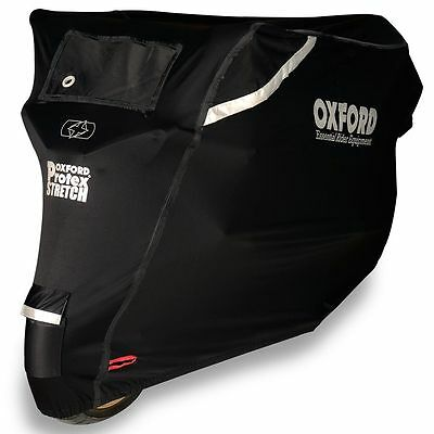 Oxford Protex Stretch Outdoor Premium Motorcycle Cover - Rain Wind Sun Proof - M