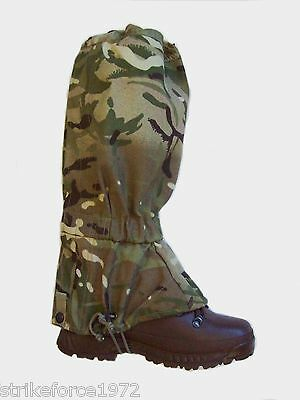 NEW Current Army Issue MTP Multicam Goretex Waterproof Gaiters - LARGE SIZE