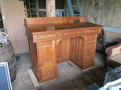 Judge's or Accountant's Desk, Paneled, Unique, Exquisite! 1800s