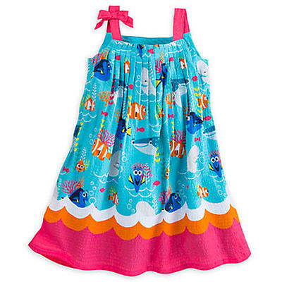 Disney Store Finding Dory Dress For Girls ~ Size 9/10 ~ Brand New With Tags