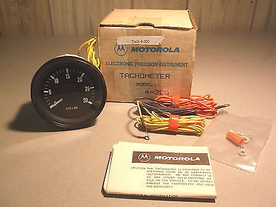 New Motorola 3,000 Rpm Tachometer Model 4-300 W/ Instructions Free Shipping
