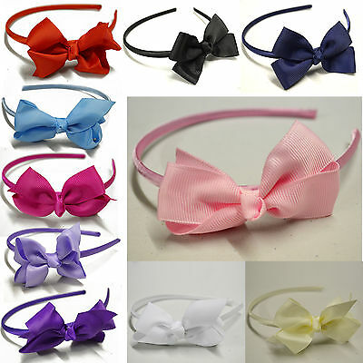 Girls / Ladies Bow Alice Band Hair Headband Aliceband Wedding / Christening Lot