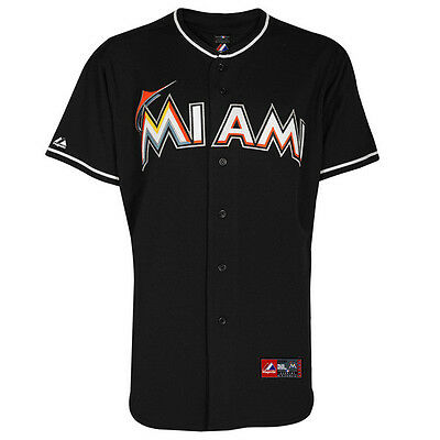 MLB Baseball Trikot Jersey MIAMI MARLINS black Road von Majestic