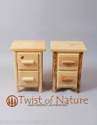 Fine Log End Table Night Stand Space Saver Top Quality Rustic Download Free Architecture Designs Rallybritishbridgeorg