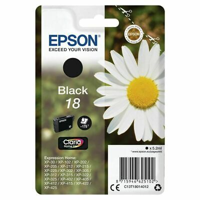 Genuine Epson T1801 18 Black Ink Expression XP-405 XP-415 XP-202 XP-205 XP-215
