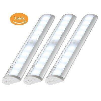 Kuled® Cabinet Motion Sensing LED Night Light Closet Portable Magnetic Bar Light