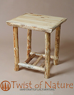 Superb Log End Table Night Stand Rustic Twist Of Nature 279 00 Download Free Architecture Designs Rallybritishbridgeorg