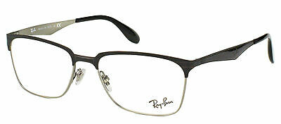 35f4ca4817c Authentic Ray Ban RX 6344 2861 Black And Silver Metal Square Eyeglasses 54mm