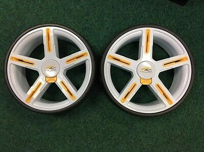 Powakaddy White Replacement Golf Trolley Wheels, Brand New, Cheapest U.k Price