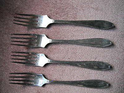 set of 4 small forks