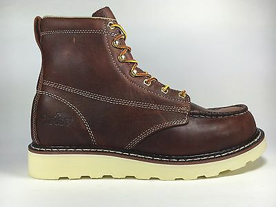 "Cactus Work Boots 6070M Brown 6"" Moc Toe Real Leather New In Box"