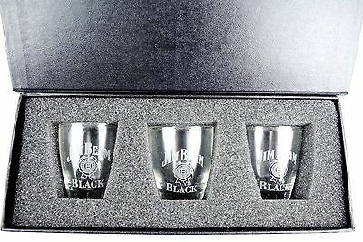 Deluxe! JIM BEAM Shot Glass Set - Man Cave Pool Room Fathers Day Birthday Gift