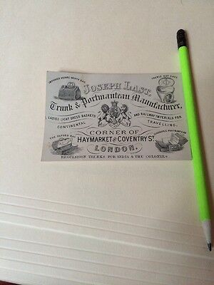 Historic Vintage Receipt Invoice History Joseph Last Trunks Portmanteau London