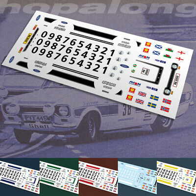 """Scalextric/Slot/Diecast Car 1/64 Scale """"RS2000"""" Waterslide Decals"""