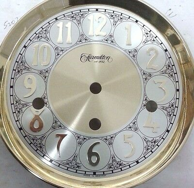 Hermle-Hamilton clock dial 165 mm 3 chimes  for  350-351-1050-1051 movement
