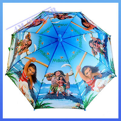Kids Boys Rain Proof Umbrella Raincoat Parasol Sunshade Disney Moana Maui Gift