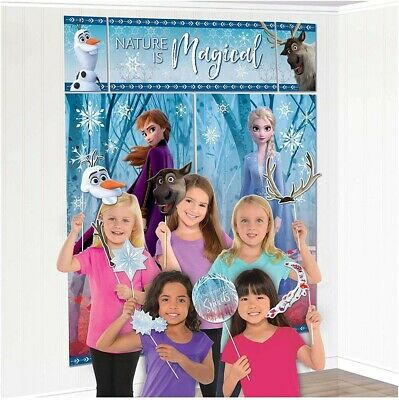 Disney Frozen Birthday Party Pack(Banner, Wall Poster, Swirls & Table Decor Kit)