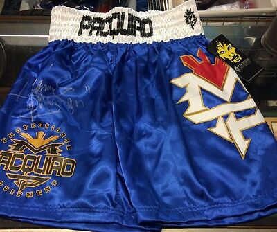 Manny Pacquiao Signed Trunks