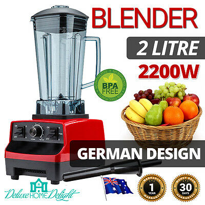 NEW MaxMate Food Processor Blender Mixer 2 Litre Powerful Commercial Crush Ice