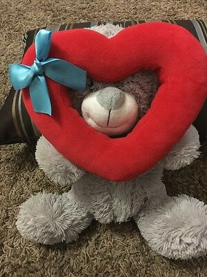 Plush Stuffed Animal Valentines Teddy Bear 11""