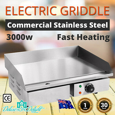 NEW MaxMate Commercial Griddle Grill Commercial Countertop Hot Plate Stainless