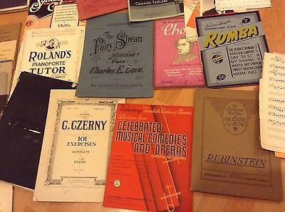 Large Collection Of Vintage Music Books